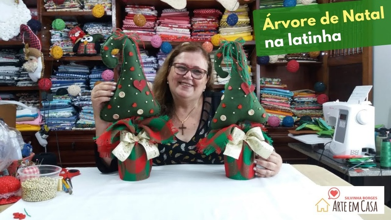 Árvore de Natal em latinha de Leite - parte 1
