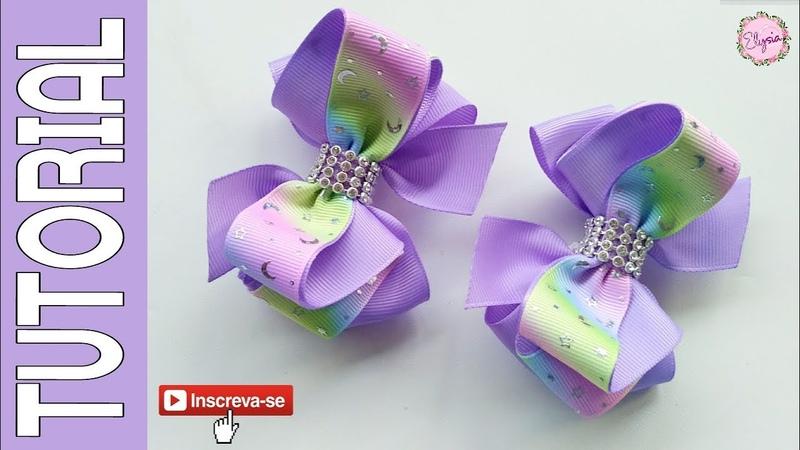 Laço Elysa Fita N5 🎀 Ribbon Bow Tutorial 🎀 DIY by Elysia Handmade