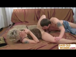 Mature older woman with younger lover