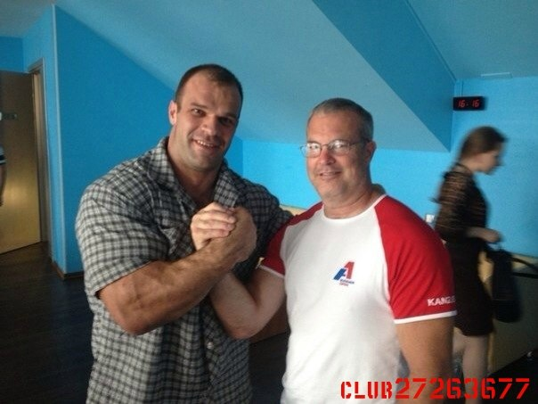 Denis Cyplenkov and Bob Brown before A1 Russian Open 2014 │ Photo Source: ОФИЦИАЛЬНАЯ ГРУППА ДЕНИСА ЦЫПЛЕНКОВА!
