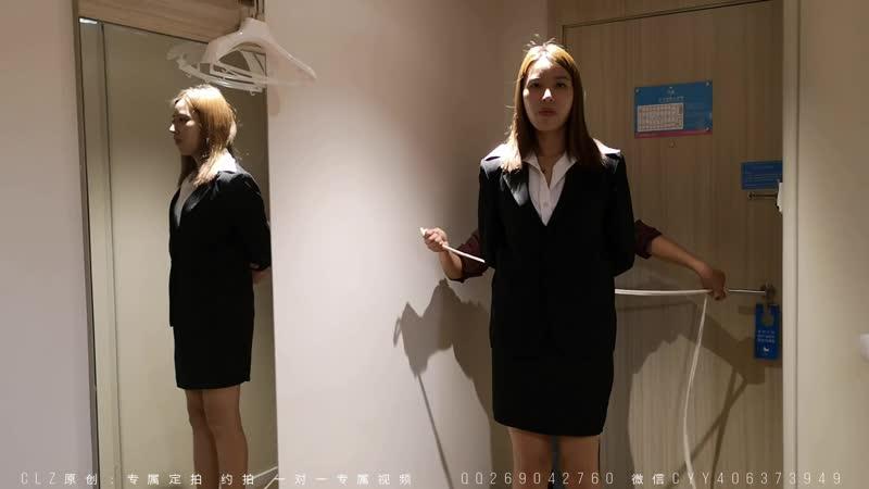 2 sexy`s chinese secretaries playing bondage games
