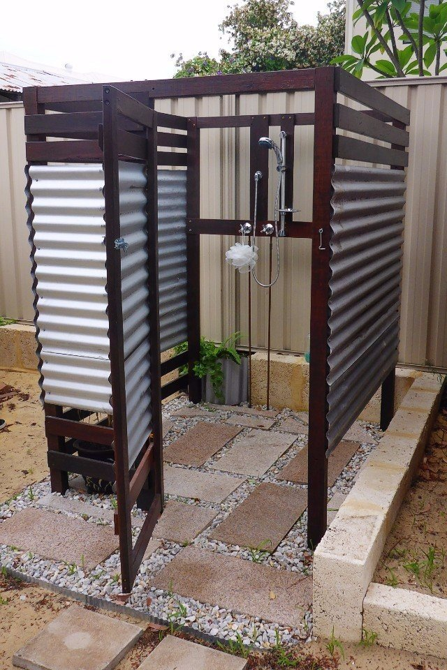 На даче быстрый душ