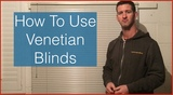 How to use a venetian blind. How to operate a venetian blind mini blinds
