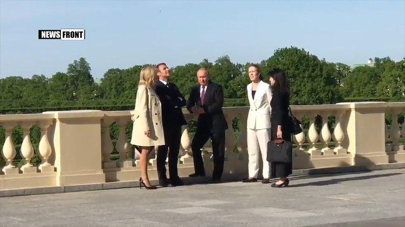 Владимир Путин принял Эммануэля Макрона в Константиновском дворце