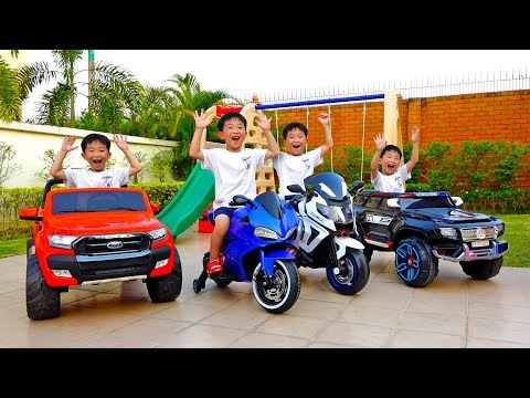 1시간 예준이와 아빠의 전동 자동차 장난감 어린이 놀이터 색깔놀이 연속보 4
