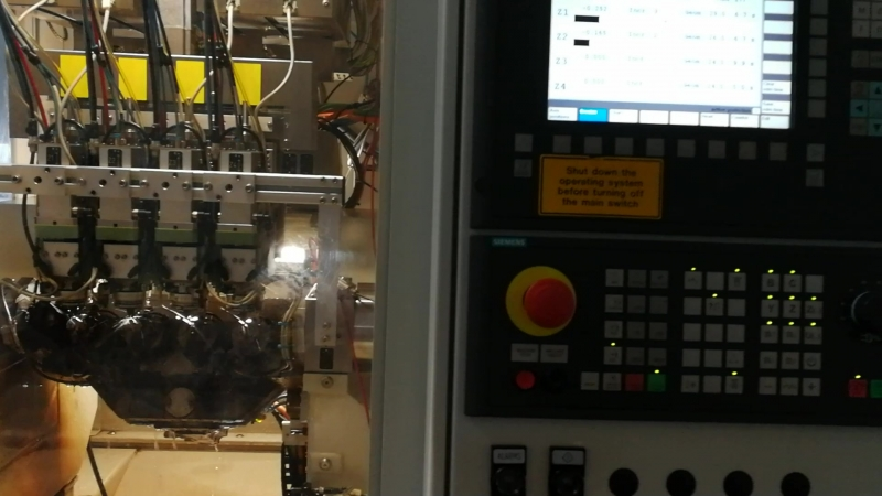 Needle body machining with Micro EDM (Common Rail Injection Nozzle)