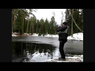 Ловля прудовой форели - зимняя рыбалка спиннингом на форелевые приманки ультролайт (trout fishing)