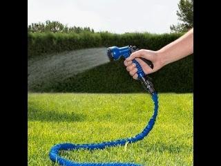 Шланг XHose - (водяной растягивающийся шланг для полива XHose - садовый поливочный шланг который растягивается и удлиняется автоматически) 1
