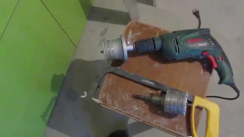 Как сделать отверстие для подрозетника в кафеле. Круглые отверстия в кафельной плитке
