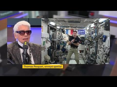 Karl Lagerfeld interviewe Thomas Pesquet depuis la station spatiale internationale