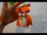 Собака из фетра на елку или елочная игрушка: пес Тузик-пузик своими руками
