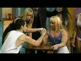 Female bodybuilder Arm wrestling, Sharon Marvel