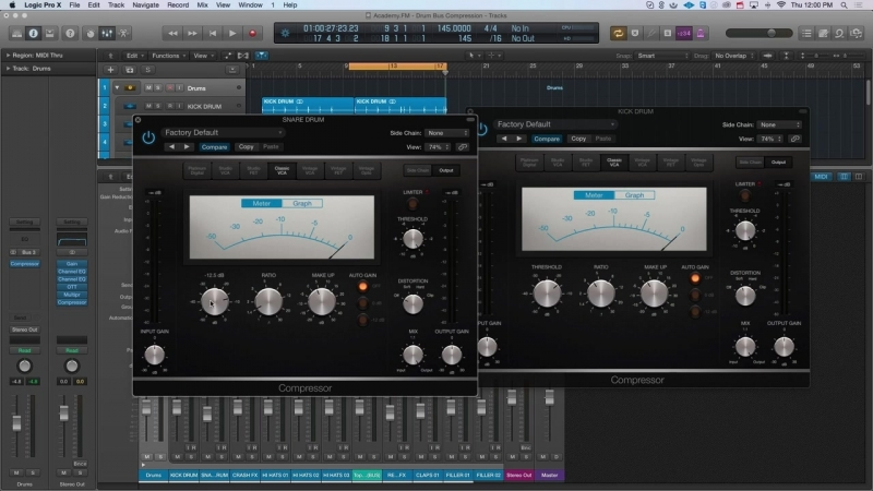 Academy.fm - Using Drum Buss Compression in Logic Pro X to Create a Punchy Mix
