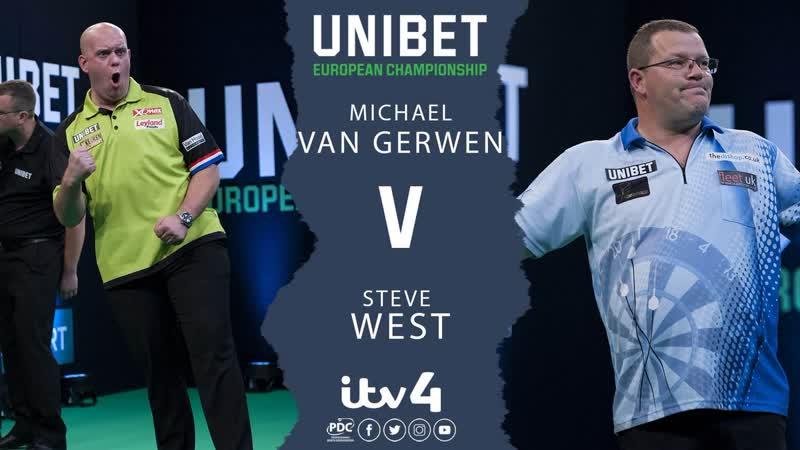 2018 European Darts Championship Round 2 van Gerwen vs West