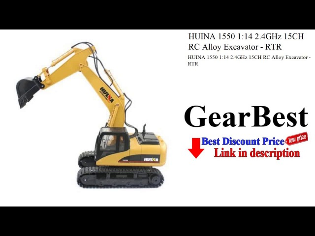 HUINA 1550 1:14 2.4GHz 15CH RC Alloy Excavator - RTR - gearbest.com