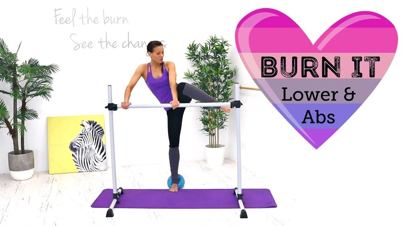 Barre Legs Workout with Ball - BARLATES BODY BLITZ Burn It Lower and Abs