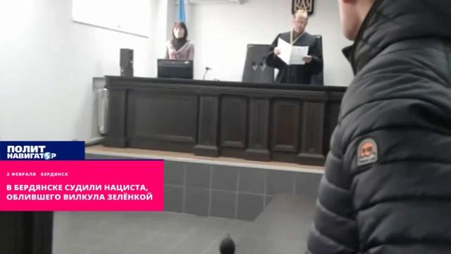 В Бердянске судили нациста, облившего Вилкула зелёнкой