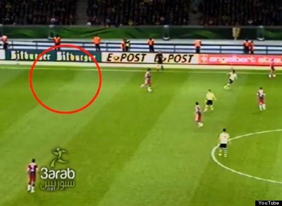 Призрак на поле в матче Боруссии Д и Баварии. (Видео)