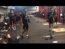 ️ Trabajos en la sala de musculación en Houston preparando el encuentro por fecha FIFA ente @miseleccionmx.