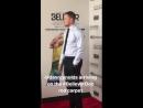 Dan Reynolds at the Believer premier in New York.