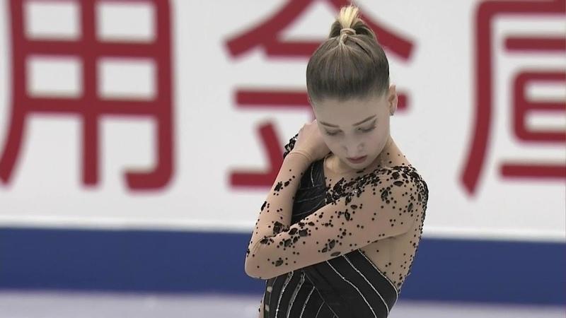 Мария Сотскова Произвольная программа Женщины NHK Trophy Гран при по фигурному катанию 2018 19