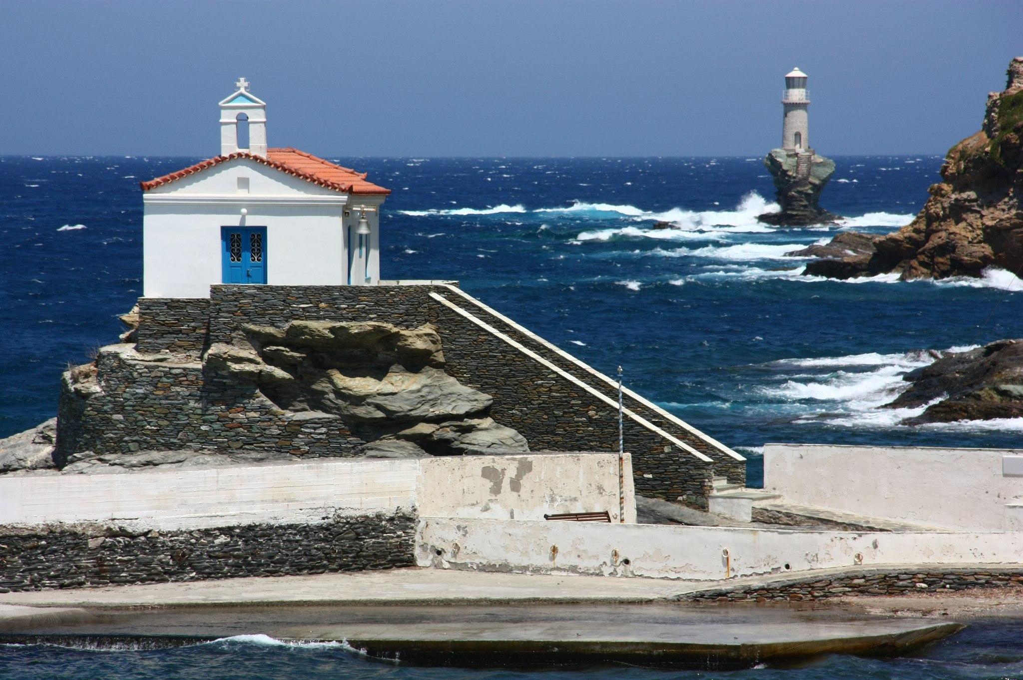 4. Остров Андрос (6км от Эвбеи).
