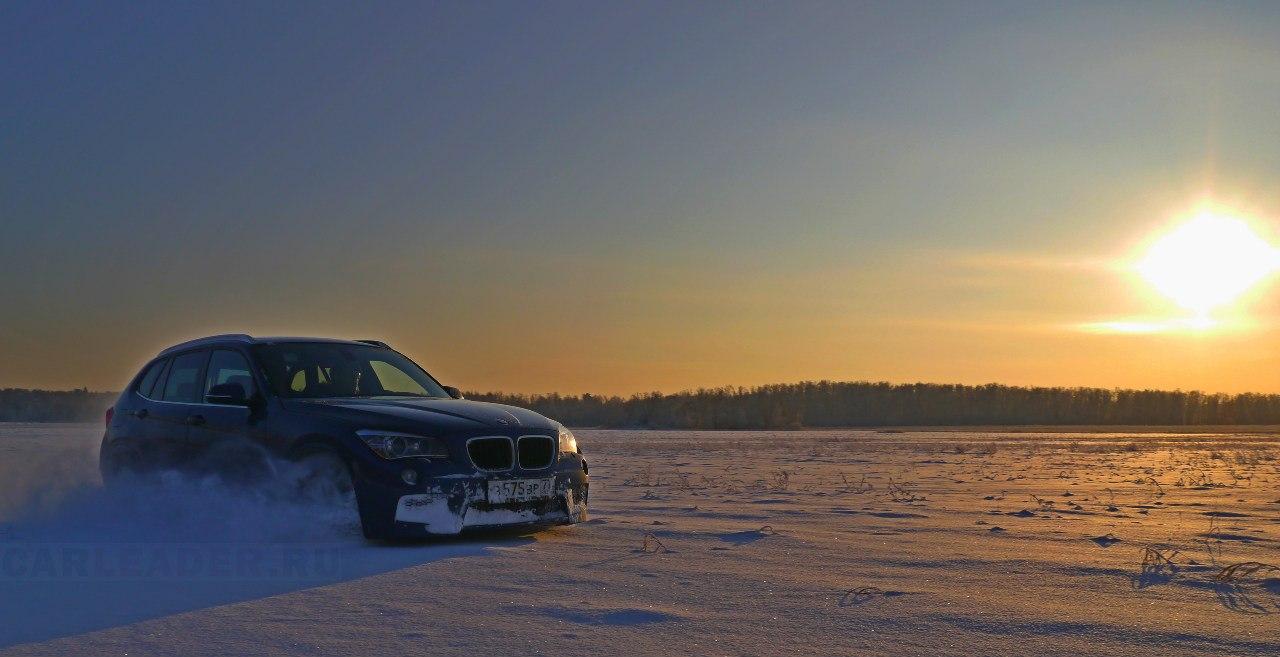 BMW X1 на снегу