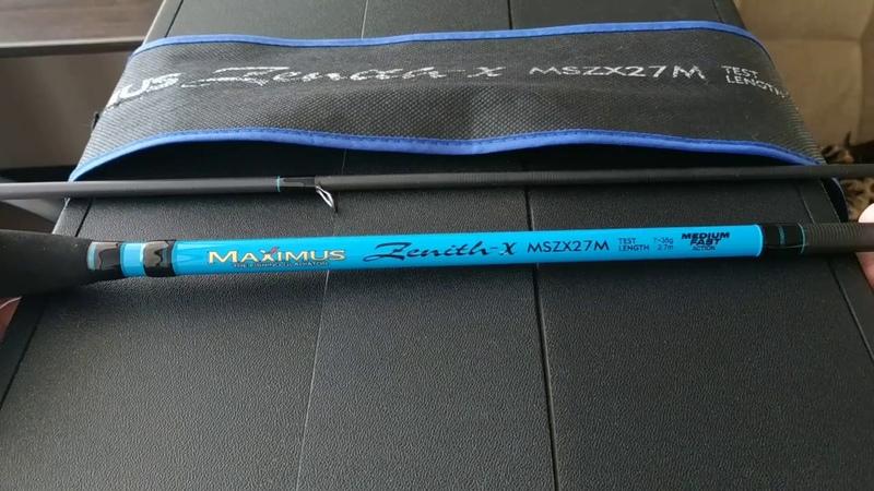Видеообзор достойного бюджетного спиннинга Maximus Zenith-X 27M по заказу Fmagazin