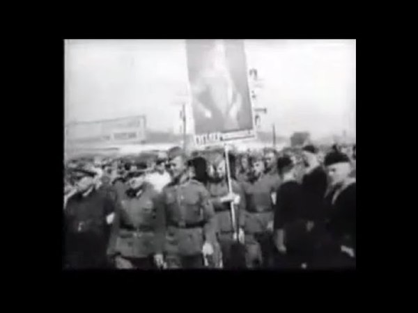 Parade of Russian Fascists in Pskov on June 22, 1943.