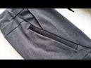 How to sew a zipper pocket part 1 Sweatpants Jak uszyć spodnie joggery kieszń z ekspresem