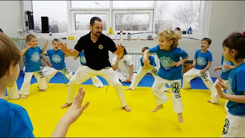 Batizado kids, Capoeira Existencia. Em Cima de Mare 2018 Vladivostok, Russia