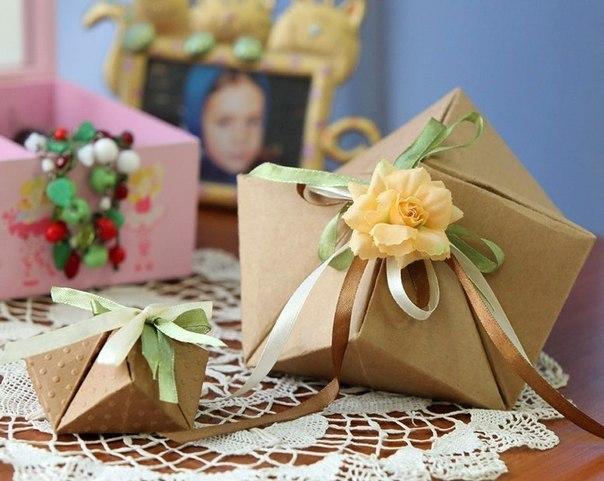 Граненая подарочная коробочка своими руками… (7 фото) - картинка