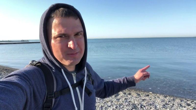 ⛳️ Доброе утро 🏊♂️ Купание в Черном море турник Недвижимость в Сочи Риэлтор в Сочи