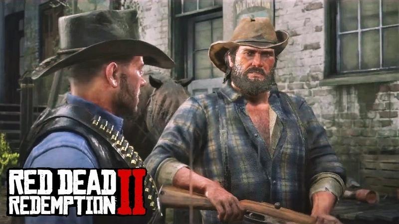 Red Dead Redemption 2 - Артур и Билл устраивают засаду на дилижанс перевозящий динамит