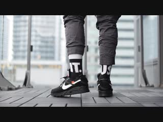 Off-white x nike air max 90 black _ white_ review  on-feet
