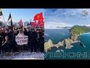 Сборная солянка ура-патриотов на митинге против передачи Курил в Москве