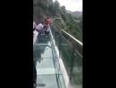 Стеклянная тропа страха на горе Тяньмень в Китае/ УЖАС