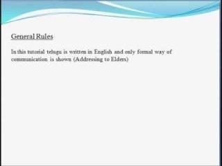 Learn Telugu through English Lesson-2