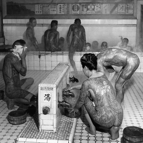 Этот снимок был сделан в общественных банях в Японии в 1947 году