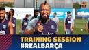 Slow motion skills in Thursday training session