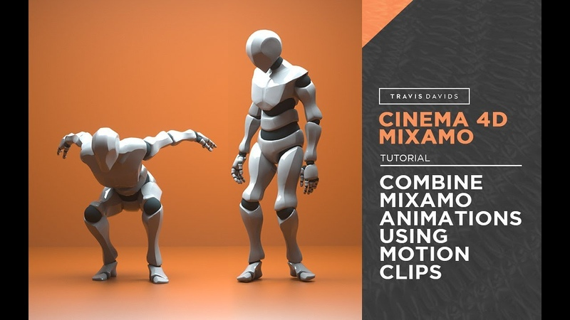 Cinema 4D Mixamo Combine Mixamo Animations Using Motion Clips