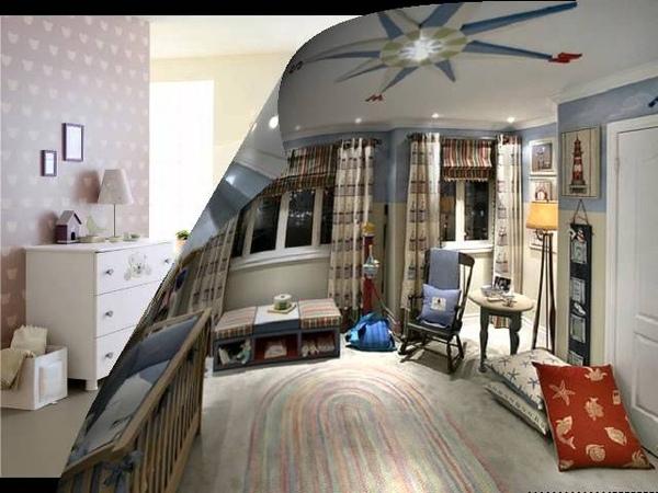 Дизайн детской комнаты для младенца.