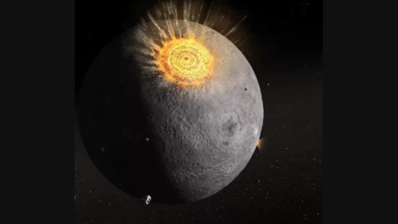 Во время затмения сняли на видео падение метеорита на Луну