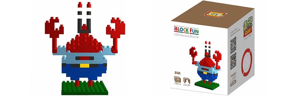 "Конструктор LOZ Diamond Block iBlock Fun ""Мистер Крабс"" 9144"