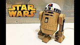 How to make R2D2 Droid from cardboardStar Wars glowing toy DIY