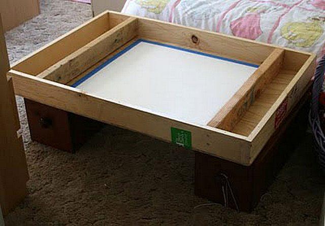 Стол с ящиком своими руками