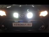 Установка дополнительных LED фар дальнего света на Toyota Camry