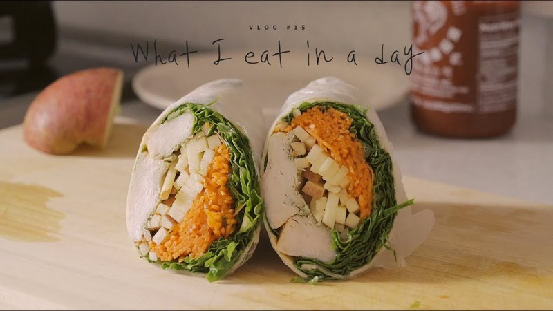 [SUB] VLOG 15 하루세끼, 치킨랩과 고추냉이덮밥 What I eat in a day, Chicken Wraps and Wasabi bowl | Honeykki 꿀키