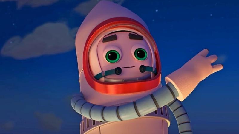 Домики - Космический корабль – Обучающий мультфильм для детей - про космос