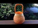 A Beautiful Handbag Basket Pumpkin - Int Lesson 7 By Mutita The Art Of Fruit And Vegetable Carving